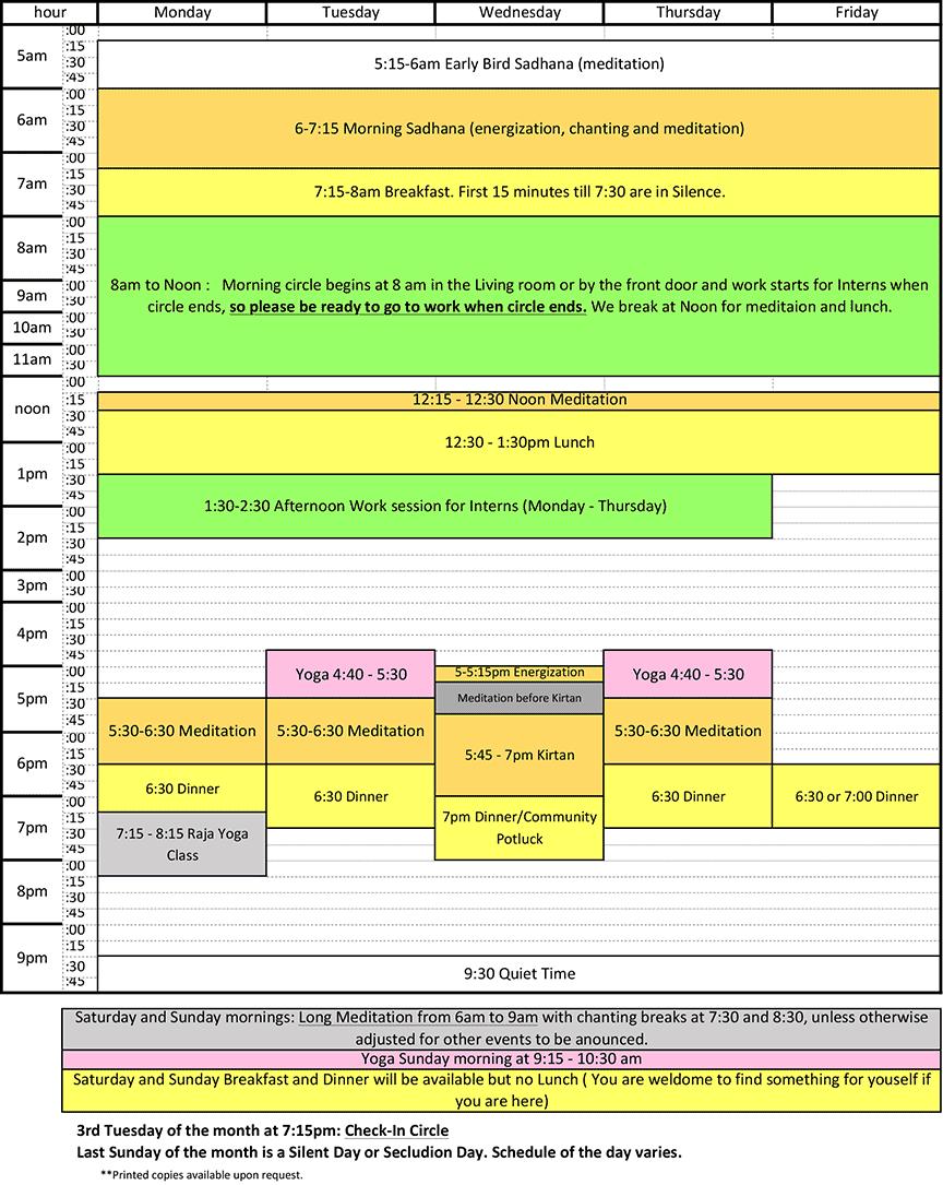 Polestar Weekly Calendar