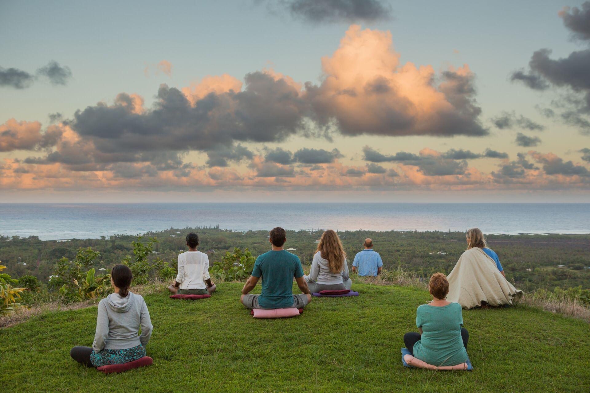 Meditation In Hawaii At Polestar Gardens On The Big Island