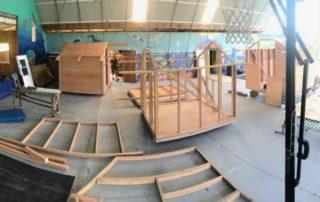 Micro Cabins at Polestar Gardens being built
